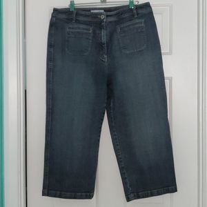 Denim Chico's Platinum Capris (Chico's size 2.5)